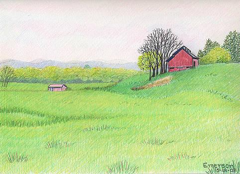 Barn on Georgetown Road by Harriet Emerson