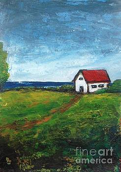 Barn on the Lake by Vesna Antic