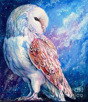 Barn Owl and Starry Sky by Anne Koivumaki - Fine Art Anne
