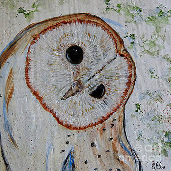 Barn Owl original art print by Ella Kaye Dickey