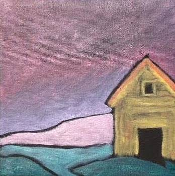 Barn Waiting for a Storm by Molly Fisk