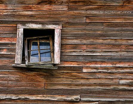 Barn Window by Paul DeRocker