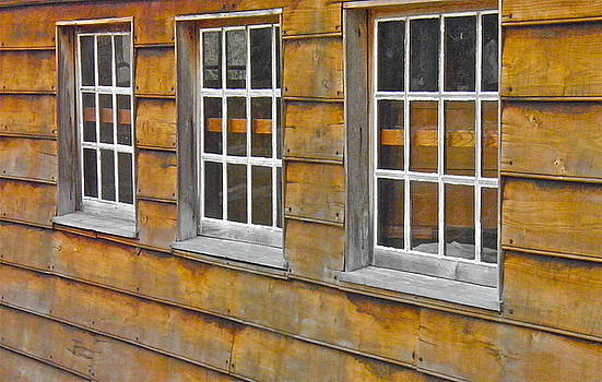 Barn Windows by E Robert Dee