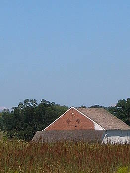 Barn with Cannon Hole by Jessica Hoover