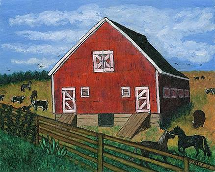Barnyard on the Prairie by Tanna Lee M Wells