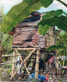 Barong barong  - Nipa Hut by Bong Perez