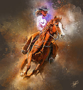 Barrel Racing by Tom Schmidt
