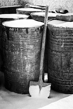 Barrels and shovel by Hitendra SINKAR