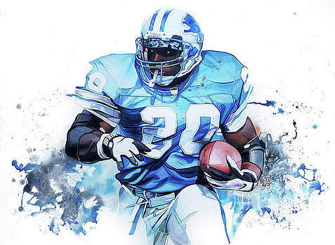 Barry Sanders Gridiron Greats by Michael Pattison