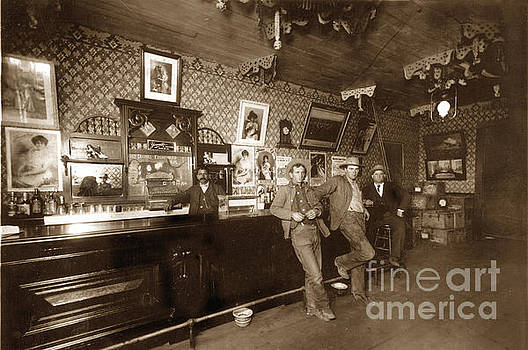 California Views Mr Pat Hathaway Archives - Bartender behind Bar Interior Feb.1910
