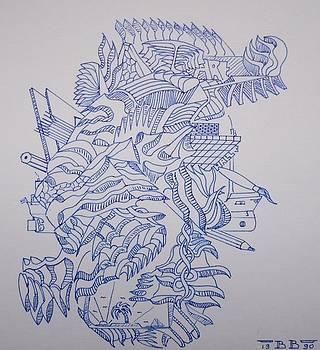 Bartjan-ink 1990 by Bart jan Beltman