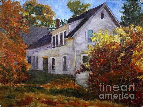 Donna Walsh - Barton house in Autumn