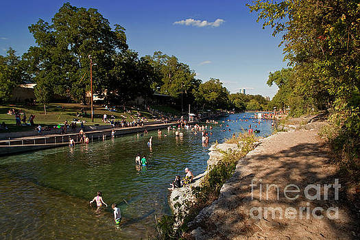 Herronstock Prints - Barton Springs Pool is a nationally recognized natural swimming