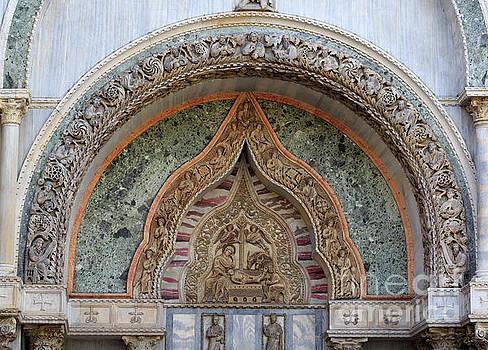 Bas relief over Porta dei Fiori of St Mark's Basilica in Venice by Louise Heusinkveld