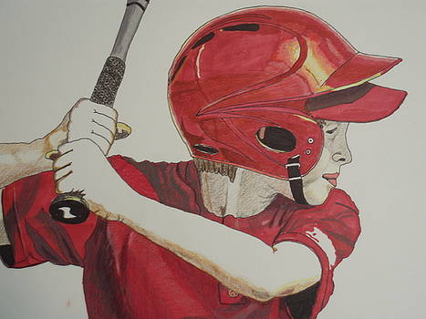 Baseball Ready 2 by Michael Runner