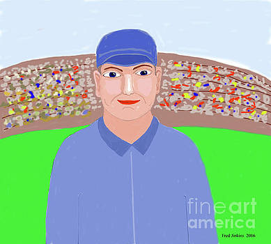 Baseball Star Portrait by Fred Jinkins