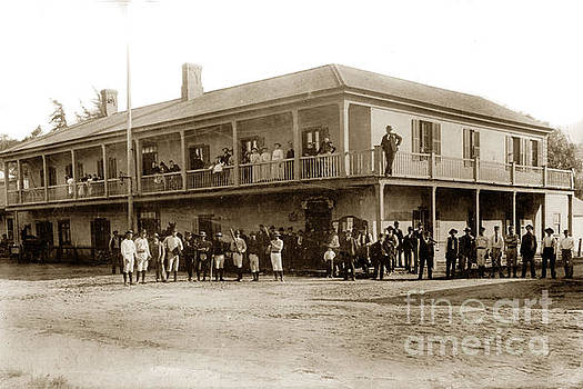 California Views Mr Pat Hathaway Archives - Baseball team in front of Plaza Hotel in San Juan Bautista Calif. circa 1915