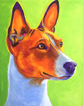 Basenji - Burnt Orange by Alicia VanNoy Call