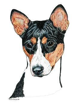 Basenji Portrait by Kathleen Sepulveda