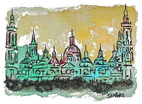 Amanda Sanford - Basilica Pillar in Zaragoza