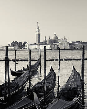 Basilica San Giorgio Maggiore and Gondolas by Richard Goodrich