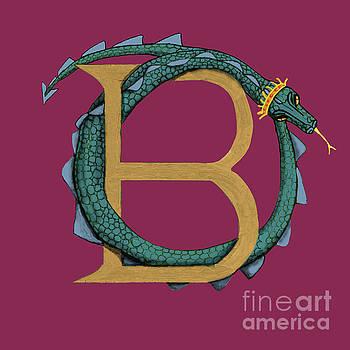 Basilisk Letter B by Donna Huntriss