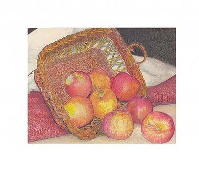 Basket of Apples by Crispin  Delgado