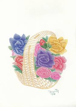 Basket of Roses by Dusty Reed