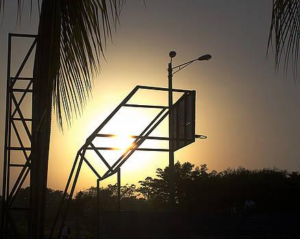 Ariel - Basketball at Sunset