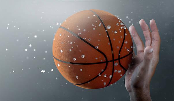 Basketball In Flight by Allan Swart