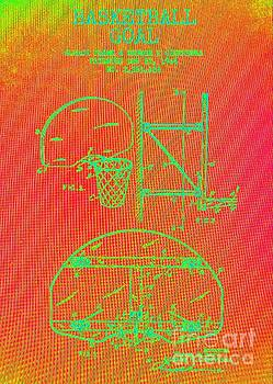 Basketball Goal Patent Heat Map 1 by Richard W Linford