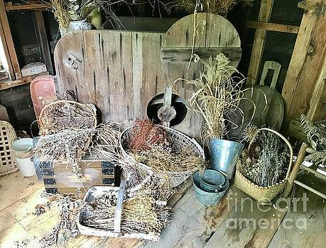 Baskets and Herbs by Ruth H Curtis