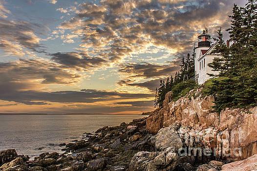 Bass Harbor Head Lighthouse Sunset by Jason Kolenda