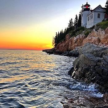 Bass Harbor Lighthouse at Sunset by William Sullivan