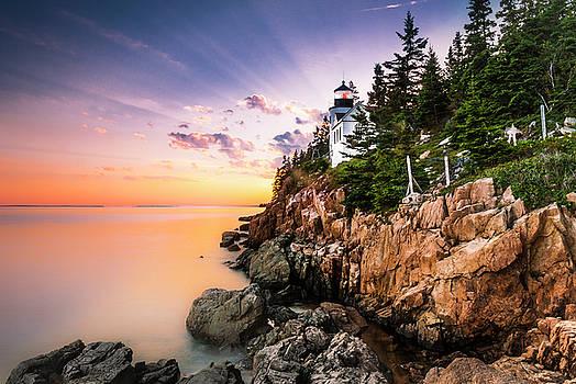 Ranjay Mitra - Bass Harbor Lighthouse Sunset