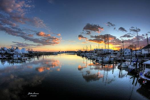 Bass Harbor Sunset by John Loreaux