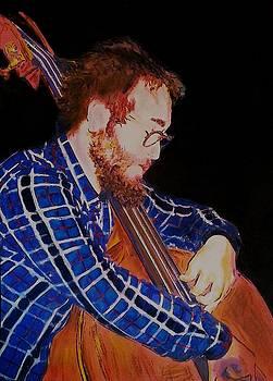 Bass Jazz Player by Mandy Thomas