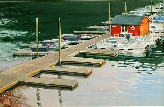 Bass Lake Boat House by Tamara Keiper