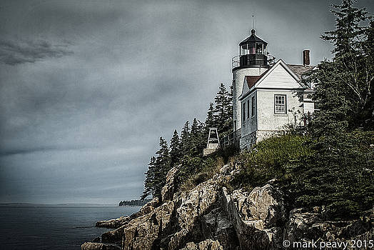 Bass Lighthouse Maine by Mark Peavy