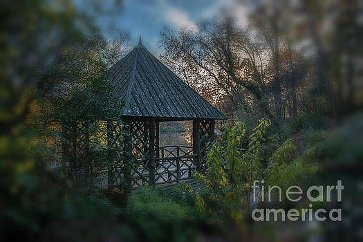 Bass Pond Boathouse Dreaming by Dale Powell