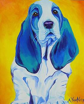 Basset - Ol' Blue by Alicia VanNoy Call