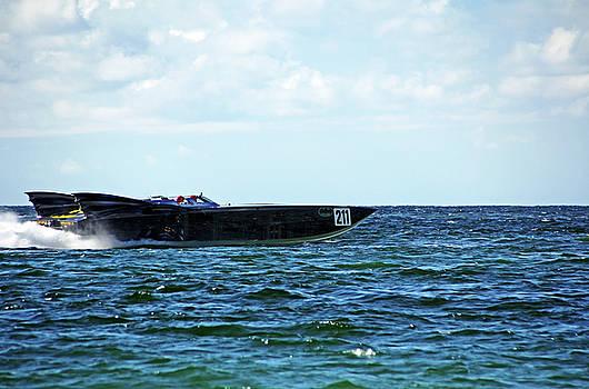Bat Boat 211 Power Boat by Debbie Oppermann