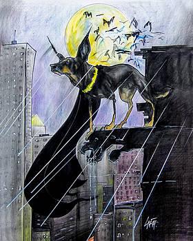 John LaFree - Bat-Dog Caricature