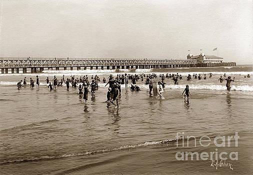 California Views Mr Pat Hathaway Archives - Bather at Long Beach Pier California Aug. 9 1906