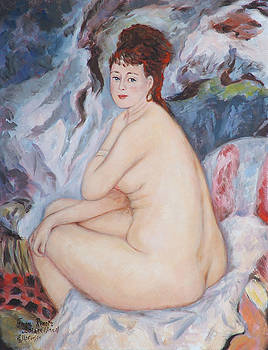 BATHER  My reproduction of renoirs work by Ekaterina Mortensen
