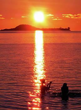 Jonny Jelinek - Bathing at Sunset