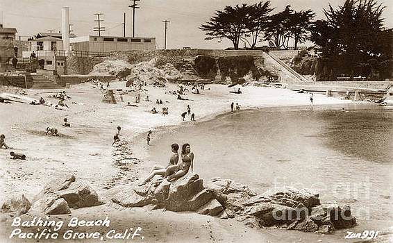 California Views Mr Pat Hathaway Archives - Bathing Beach Lovers Point Pacific Grove 1935