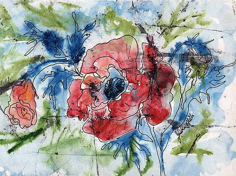 Batik Rose by Jackie Little Miller