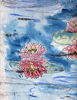 Batik water Lilies by Jackie Little Miller