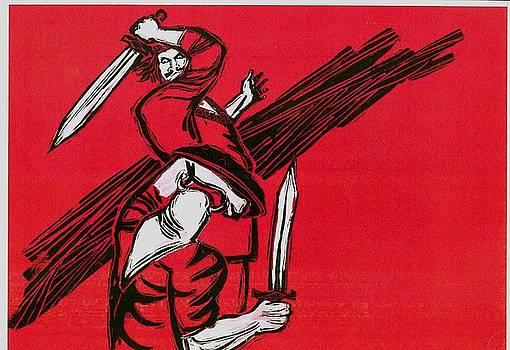 Battle Between Rostam And Esfandiar by Mehrdad Sedghi